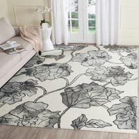Safavieh Handmade Dip Dye Watercolor Vintage Ivory/ Light Grey Wool Rug - 8' x 10'