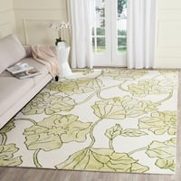 Safavieh Handmade Dip Dye Watercolor Vintage Ivory/ Light Green Wool Rug - 8' X 10'