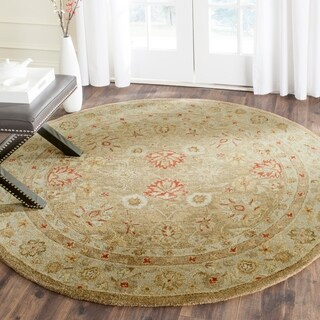 Safavieh Hand-Tufted Antiquity Brown/ Beige Wool Rug (10' Round)