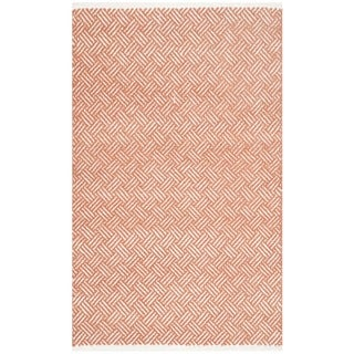 Safavieh Hand-Tufted Boston Orange Cotton Rug (2'6 x 4')