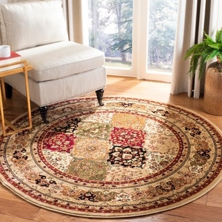 Safavieh Lyndhurst Traditional Oriental Multicolor/ Black Rug (10' Round)
