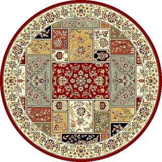 Safavieh Lyndhurst Traditional Oriental Multicolor/ Ivory Rug (10' Round)