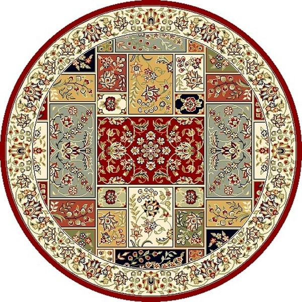 Safavieh Lyndhurst Traditional Oriental Multicolor/ Ivory Rug (10' Round)