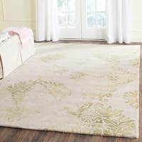 Safavieh Handmade Dip Dye Watercolor Vintage Beige/ Green Wool Rug - 8' x 10'