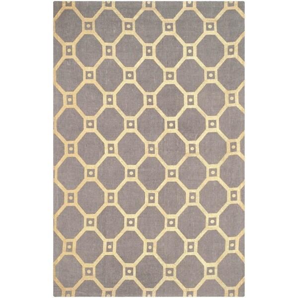 Safavieh Handmade Cedar Brook Grey/ Gold Jute Rug (7'3 x 9'3) - 7'3 x 9'3