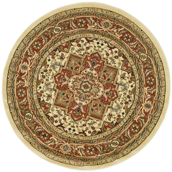 Safavieh Lyndhurst Traditional Oriental Ivory/ Rust Rug - 10' Round