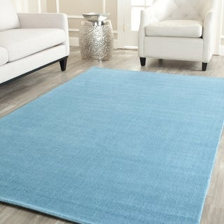 Safavieh Handmade Himalaya Solid Turquoise Blue Wool Area Rug (11' x 15')
