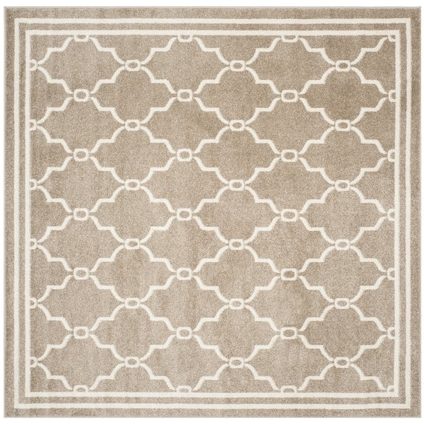 Indoor Outdoor Rugs Square: Safavieh Indoor/ Outdoor Amherst Wheat/ Beige Rug (5