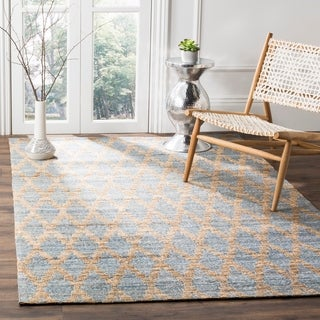 Safavieh Cape Cod Handmade Light Blue / Gold Jute Natural Fiber Rug (8' x 10')