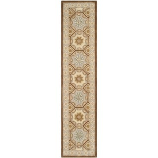 Safavieh Hand-Tufted Naples Ivory/ Brown Wool Rug (2'6 x 4'6)