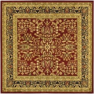 Safavieh Lyndhurst Traditional Oriental Red/ Black Rug (10' Square)