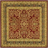 Safavieh Lyndhurst Traditional Oriental Red/ Black Rug - 10' square