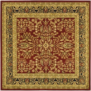 Safavieh Lyndhurst Traditional Oriental Red/ Black Rug (10' Square)
