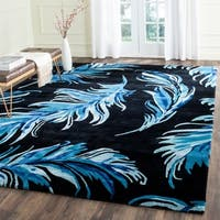Safavieh Hand-Tufted Allure Black/ Blue Wool Rug - 8' x 10'