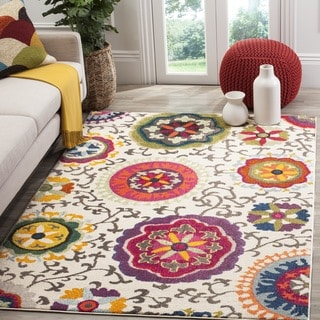 Safavieh Porcello Contemporary Floral Grey Yellow Rug 3