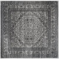 Safavieh Adirondack Vintage Silver/ Black Rug - 10' x 10' square