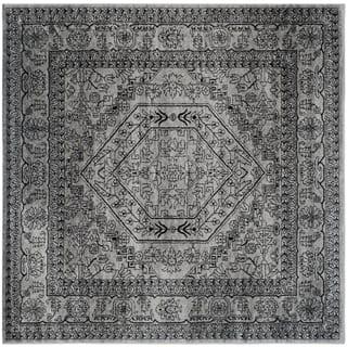 Safavieh Adirondack Vintage Silver Black Rug 10 Square