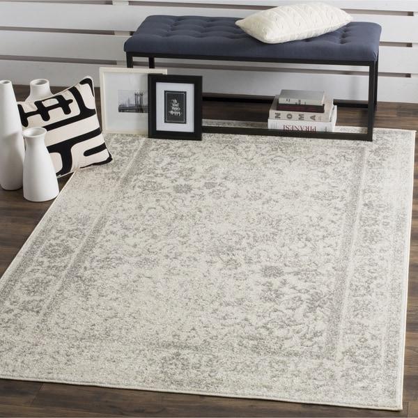 safavieh adirondack vintage distressed ivory silver large area rug 11u0026x27