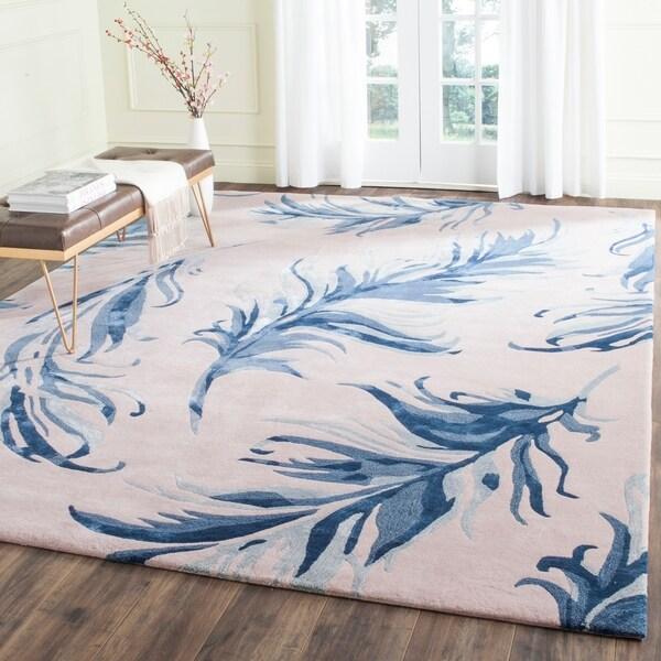 Safavieh Hand-Tufted Allure Beige/ Blue Wool Rug - 8' x 10'