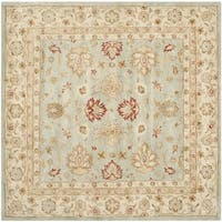 Safavieh Hand-Tufted Antiquity Grey Blue/ Beige Wool Rug - 10' square