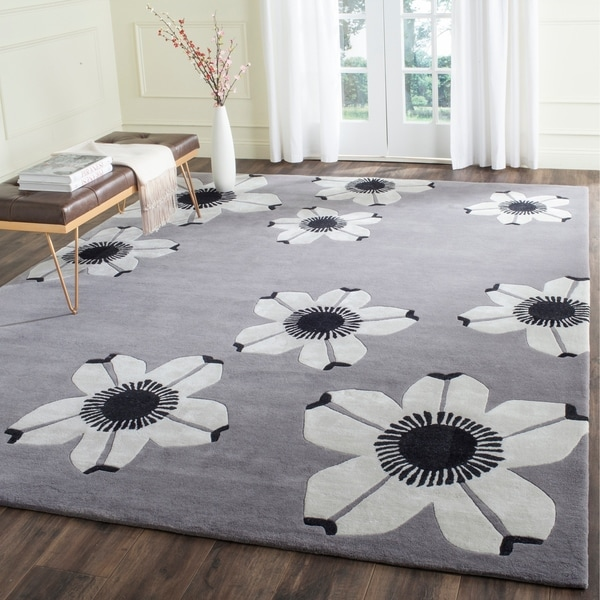 Safavieh Hand-Tufted Allure Grey Wool Rug - 8' x 10'