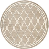 Safavieh Indoor/ Outdoor Amherst Wheat/ Beige Rug - 5' Round