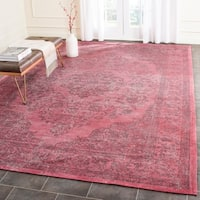 Safavieh Classic Vintage Overdyed Fuchsia Cotton Distressed Rug - 8' x 11'