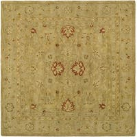 Safavieh Hand-Tufted Antiquity Brown/ Beige Wool Rug - 10' square