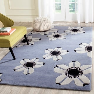Safavieh Hand-Tufted Allure Blue Wool Rug (4' x 6')
