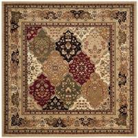Safavieh Lyndhurst Traditional Oriental Multicolor/ Black Rug - 10' x 10' Square