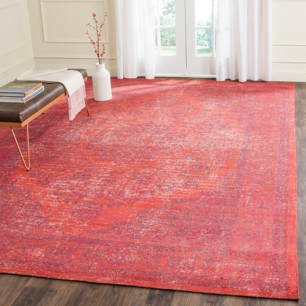Safavieh Classic Vintage Overdyed Red Cotton Distressed Rug - 8' x 11'