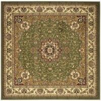 Safavieh Lyndhurst Traditional Oriental Sage/ Ivory Rug - 10' x 10' Square