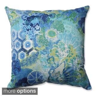 Pillow Perfect Windflower Sapphire Throw Pillow