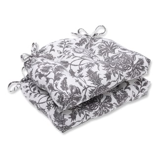 Pillow Perfect Ananya Charcoal Reversible Chair Pad (Set of 2)
