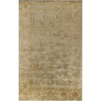 Hand-Tufted Farrah Border New Zealand Wool Area Rug - 8' x 11'