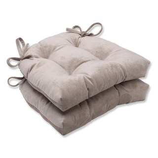 Pillow Perfect Belvedere Driftwood Faux Suede Reversible Chair Pad (Set of 2)