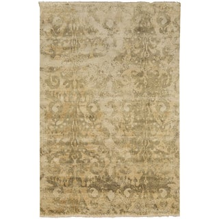 Hand-Knotted Jake Floral Wool Rug (8' x 11')