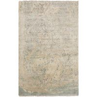 Hand-Knotted Malton Floral Wool Area Rug - 8' x 11'
