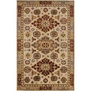 Hand-Tufted Carla Border Wool Rug (3'3 x 5'3)