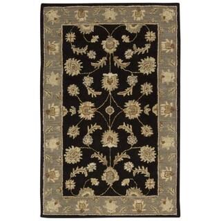 Rug Squared Worcester Black Rug (3'6 x 5'6)