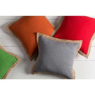 Decorative Henley 18-inch Poly or Feather Down Filled Throw Pillow