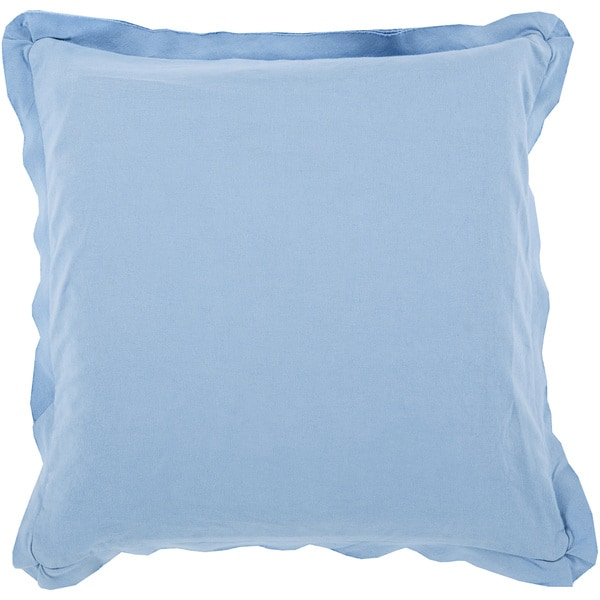 Decorative Buckingham 18-inch Poly or Feather Down Filled Throw Pillow. Opens flyout.