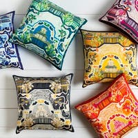 Decorative Campbell 18-inch Poly or Feather Down Filled Throw Pillow