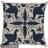 Decorative Calvert 18-inch Poly or Feather Down Filled Throw Pillow
