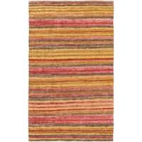 Hand-Woven Jeff Stripe Jute Area Rug (8' x 11')