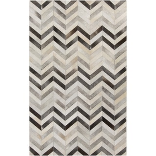 Hand-Crafted Gary Chevron Hair On Hide Rug (5' x 8')