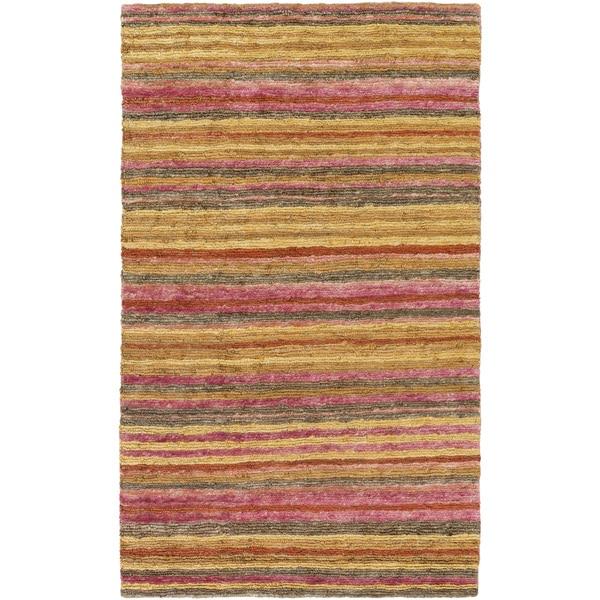 Hand-Woven Jeff Stripe Jute Rug (5' x 8')