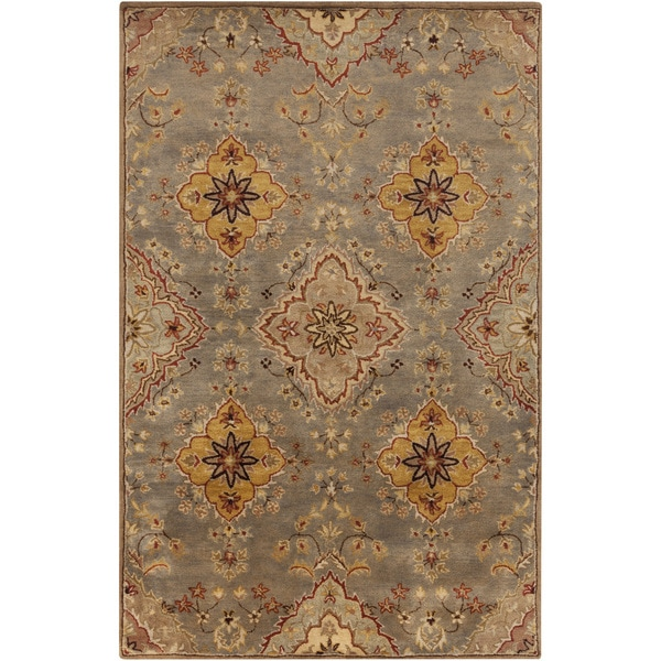 Hand-Tufted Barry Floral Wool Rug (5' x 8')