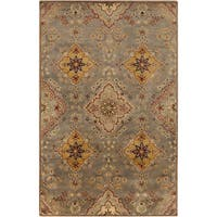 Hand-Tufted Barry Floral Wool Area Rug - 5' x 8'