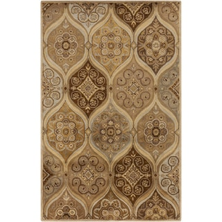 Hand-Tufted April Damask Wool Rug (5' x 8')
